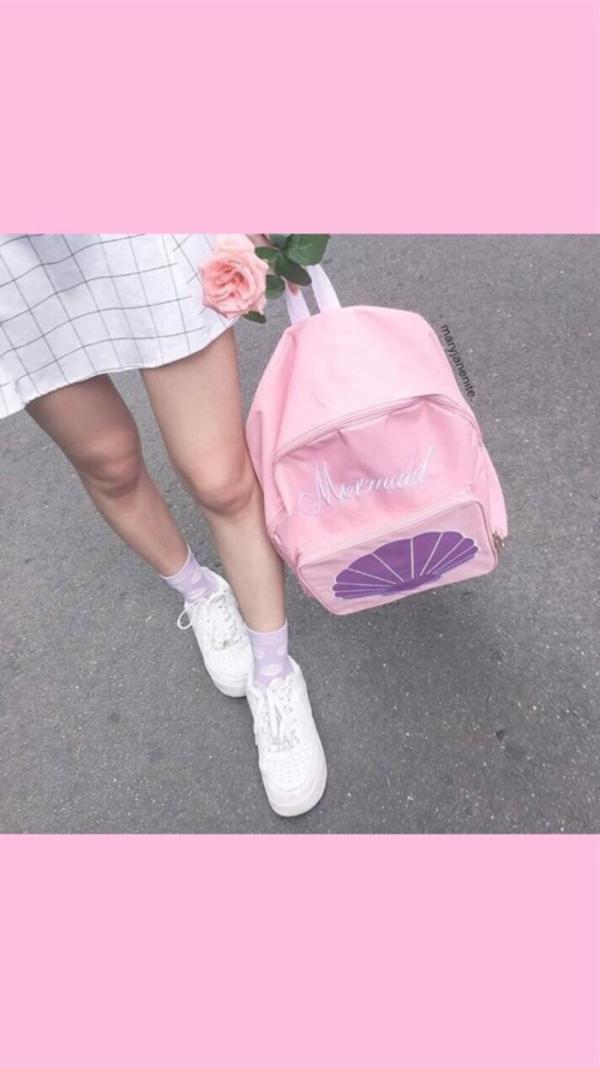 原宿粉色系皮肤图片_恶俗_眉眼心事少女粉原宿壁纸_qq
